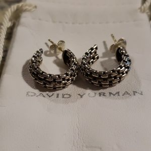 David Yurman hoop earrings sterling silver